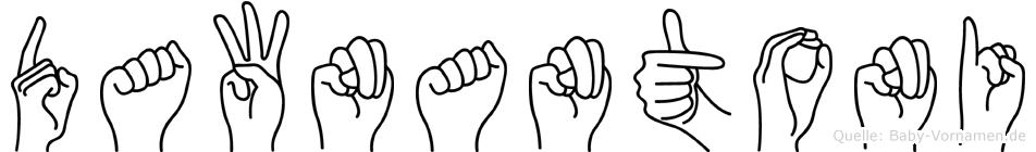 Dawnantoni im Fingeralphabet der Deutschen Gebärdensprache
