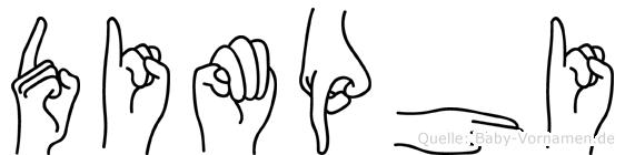 Dimphi im Fingeralphabet der Deutschen Gebärdensprache