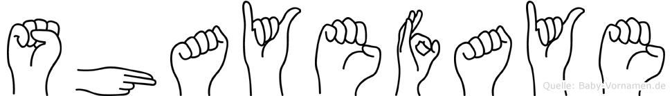 Shayefaye in Fingersprache für Gehörlose