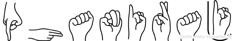 Phaniraj im Fingeralphabet der Deutschen Gebärdensprache