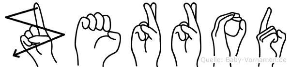 Zerrod in Fingersprache für Gehörlose