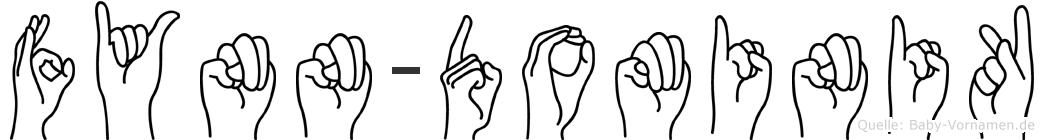 Fynn-Dominik im Fingeralphabet der Deutschen Gebärdensprache