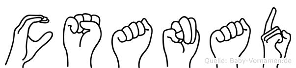 Csanad in Fingersprache für Gehörlose