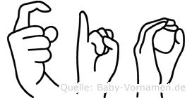Xio in Fingersprache für Gehörlose