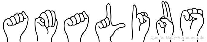 Amalius in Fingersprache für Gehörlose