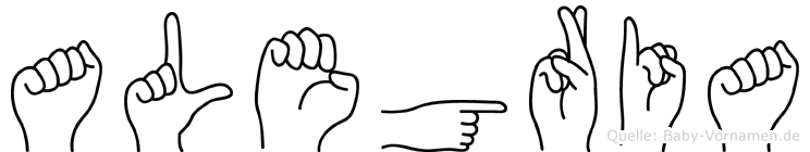Alegria in Fingersprache für Gehörlose