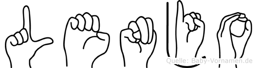Lenjo im Fingeralphabet der Deutschen Gebärdensprache