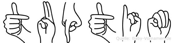 Tuptim in Fingersprache für Gehörlose