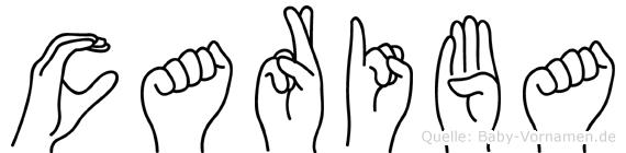 Cariba im Fingeralphabet der Deutschen Gebärdensprache
