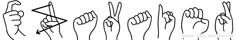Xzavaier in Fingersprache für Gehörlose