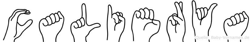 Calierya in Fingersprache für Gehörlose