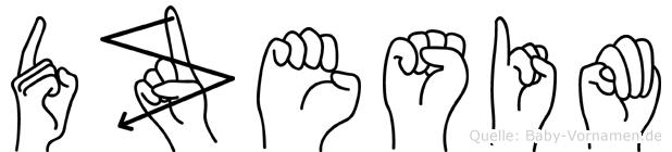 Dzesim in Fingersprache für Gehörlose