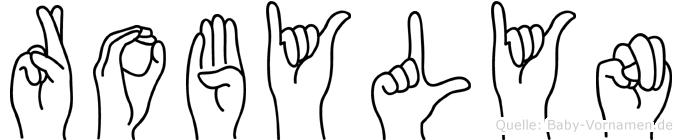 Robylyn im Fingeralphabet der Deutschen Gebärdensprache