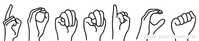 Domnica im Fingeralphabet der Deutschen Gebärdensprache