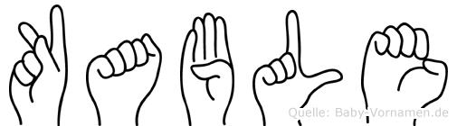 Kable in Fingersprache für Gehörlose