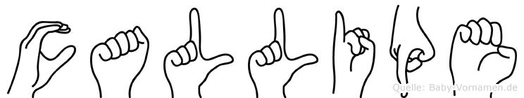 Callipe in Fingersprache für Gehörlose