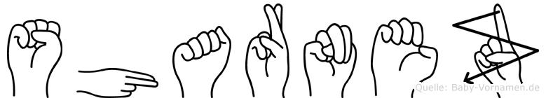 Sharnez in Fingersprache für Gehörlose