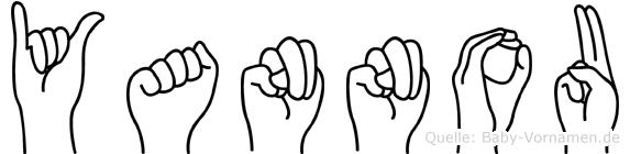 Yannou im Fingeralphabet der Deutschen Gebärdensprache