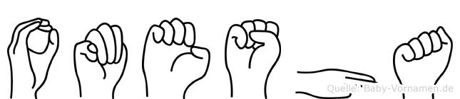 Omesha in Fingersprache für Gehörlose