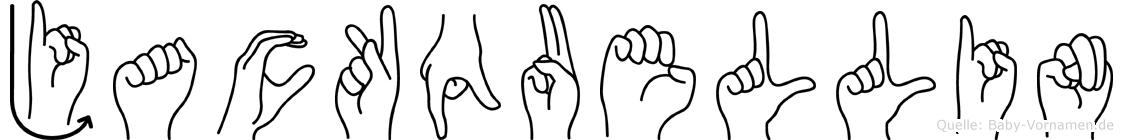 Jackquellin in Fingersprache für Gehörlose