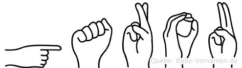 Garou in Fingersprache für Gehörlose