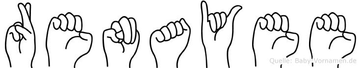 Renayee im Fingeralphabet der Deutschen Gebärdensprache