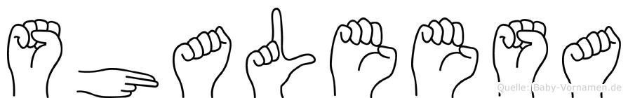 Shaleesa in Fingersprache für Gehörlose