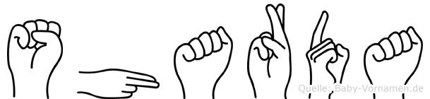 Sharda in Fingersprache für Gehörlose