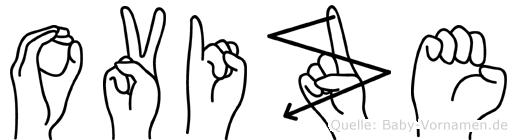Ovize im Fingeralphabet der Deutschen Gebärdensprache