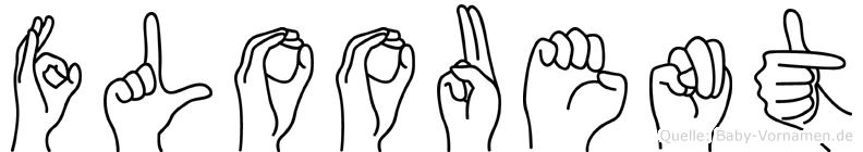 Floouent im Fingeralphabet der Deutschen Gebärdensprache