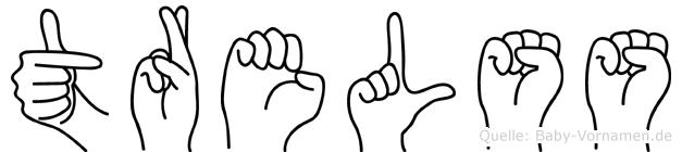 Trelss in Fingersprache für Gehörlose