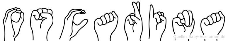 Oscarina im Fingeralphabet der Deutschen Gebärdensprache