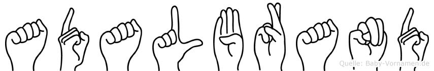 Adalbrand in Fingersprache für Gehörlose