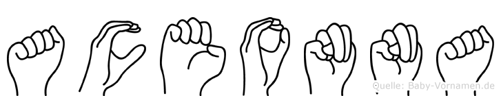 Aceonna in Fingersprache für Gehörlose