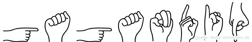 Gagandip in Fingersprache für Gehörlose
