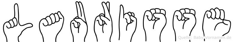 Laurisse in Fingersprache für Gehörlose