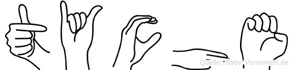 Tyche in Fingersprache für Gehörlose