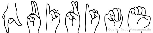 Quirine in Fingersprache für Gehörlose