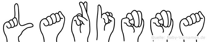 Larinna im Fingeralphabet der Deutschen Gebärdensprache