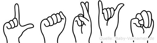 Laryn im Fingeralphabet der Deutschen Gebärdensprache