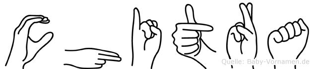 Chitra im Fingeralphabet der Deutschen Gebärdensprache