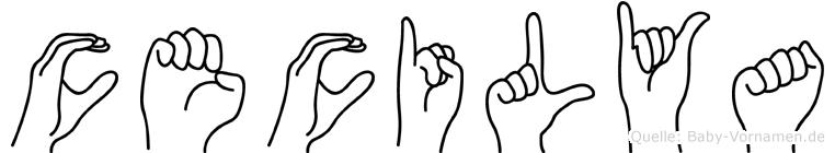 Cecilya in Fingersprache für Gehörlose