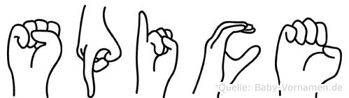 Spice in Fingersprache für Gehörlose