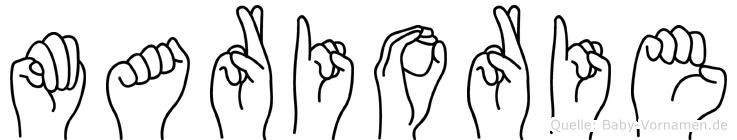 Mariorie in Fingersprache für Gehörlose