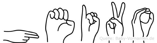 Heivo in Fingersprache für Gehörlose