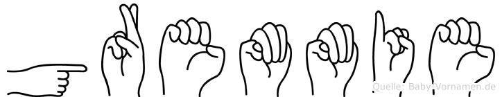 Gremmie in Fingersprache für Gehörlose