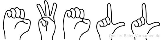Ewell im Fingeralphabet der Deutschen Gebärdensprache
