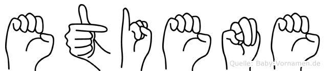 Etiene im Fingeralphabet der Deutschen Gebärdensprache