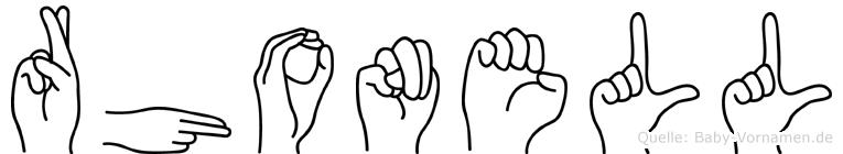 Rhonell in Fingersprache für Gehörlose