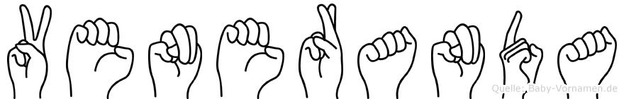 Veneranda im Fingeralphabet der Deutschen Gebärdensprache